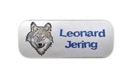 Namensaufkleber Silberfolie | Wolf