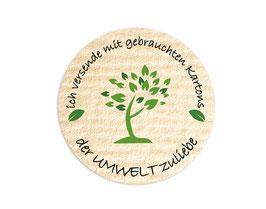 Verpackungsetiketten - rund | Der Umwelt zuliebe - grüner Baum