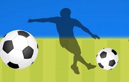 Vliesbordüre   Fußball XXL