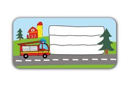 Heftaufkleber 3,0 x 6,5  cm | Feuerwehr