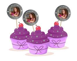 Kuchendeko  - selbstklebend  | Schulkind Herzchen - Tafeloptik