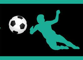 Vliesbordüre | Fußballspieler