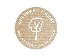 Verpackungsetiketten - rund | Der Umwelt zuliebe - Baum