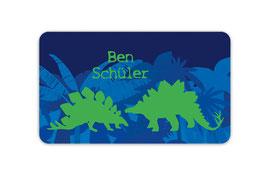 Brotdosenaufkleber | Stegosaurus  Dinos - blau