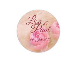 Hochzeitsaufkleber | Vintage Rose - rosa