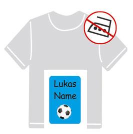 Kleidungsaufkleber | Fußball - blau
