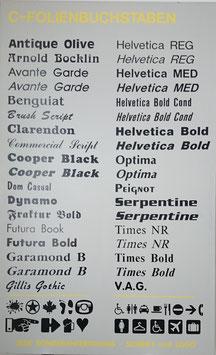 Folienbuchstaben
