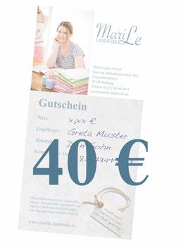 40 €-Gutschein