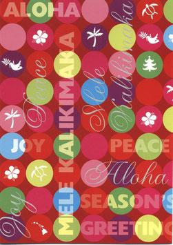 Weihnachtskarte MELE KALIKIMAKA Peace & Joy (Nr. 1680)