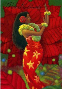 "2343 Weihnachtskarte ""Hibiscus Hula"""