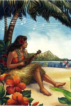 """2342 Weihnachtskarte """"Vintage Hawaii"""""""