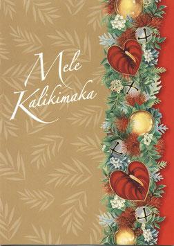 Weihnachtskarte MELE KALIKIMAKA Golden Lei (Nr. 1679)