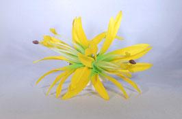 12 cm Spider-Lily-Haarclip gelb