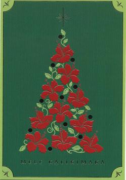 Weihnachtskarte Hibiskusbaum(1951)