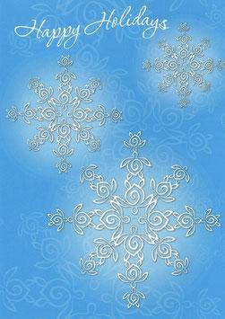 Weihnachtskarte HAPPY HOLIDAYS Honu Kristalle. 1677