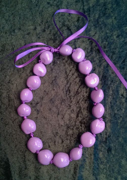 Kukuinusskette farbig lila, kurz (Nr. 2014)