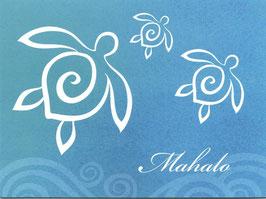Dankeskarte / Grußkarte MAHALO Honu