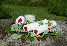 Lippenbalsam mit Erdbeere