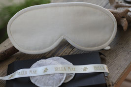 Augenschmeichler *Magie* in der Farbe Hellbeige mit auswechselbaren  Kräuterpads aus 100%  Bio Baumwolle
