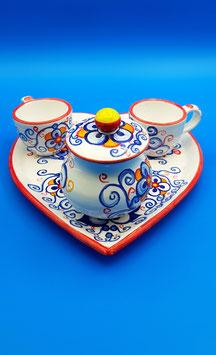 """Servizio caffè """"Romeo & Juliet"""" 2 tazzine + zuccheriera"""