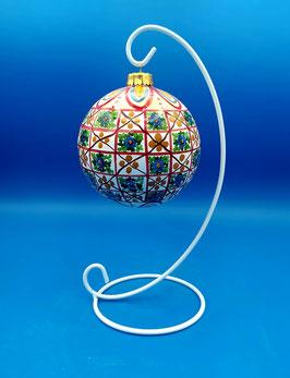 Palla di Natale decoro tradizionale reticolato