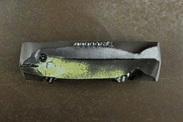 05-3 Kleiner Steinfisch, Blaugrüne Mattglasur mit Schlangenhauteffekt