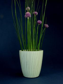 10 Vase, Becherform mit Craquelé-Glasur