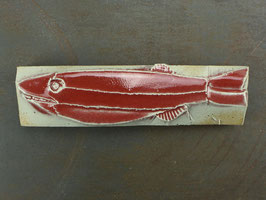 12 Steinfisch groß, Kupferrote Glasur