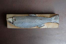 03 Steinfisch groß, Mattgrau auf Kobaltoxid