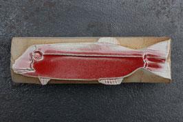 08-3 Kleiner Steinfisch, Kupferrote Glasur