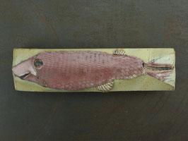 14 Steinfisch groß, Mattglasur kupfergefärbt