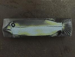 10 Steinfisch groß, Blaugrüne Mattglasur mit Schlangenhauteffekt