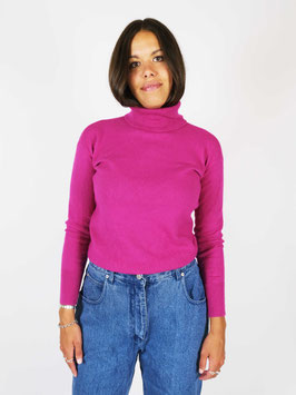 turtle neck wool cashmere pink