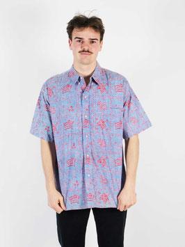 shirt blue red pattern