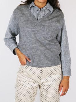 wool sweater vest grey