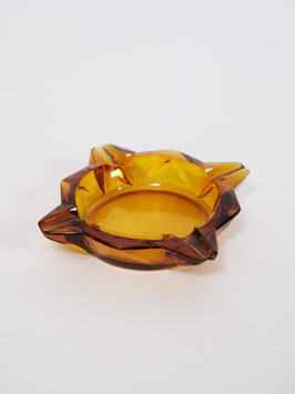 ashtray brown glass