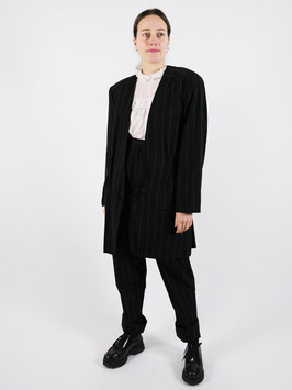 suit trousers and jacket pinstriped wool