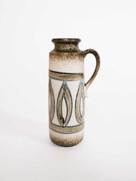 vase narrow big brown pattern