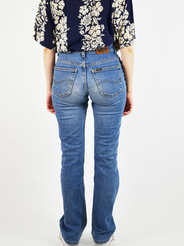 lee highwaist flared denim jeans blue