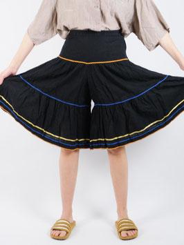 shorts black wide legs