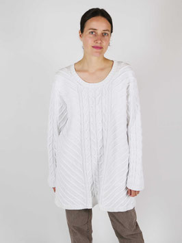 kable knit jumper cotton white