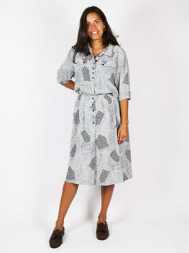two-piece light grey pattern