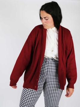 knit cardigan red wool