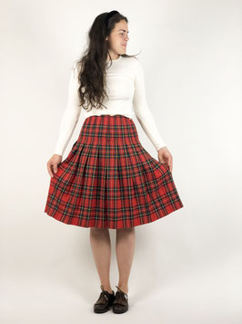 skirt college plaid red