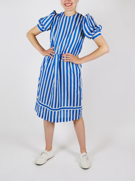 striped dress blue and white