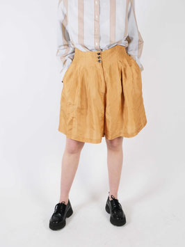 silk shorts camel