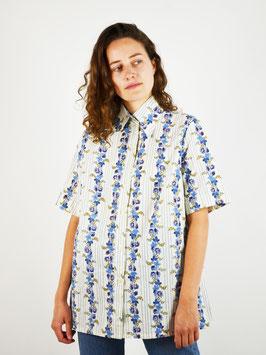 shirt short sleeves light blue flowers
