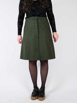 wool skirt olive