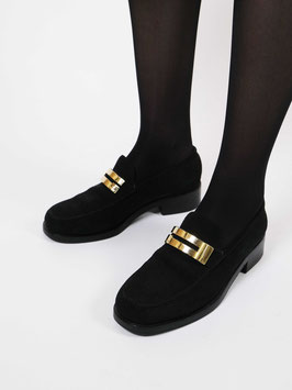 gucci loafers leather black