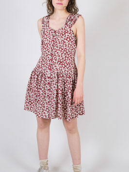 floral dress red and white